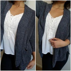 AEO Charcoal Knit Cardigan
